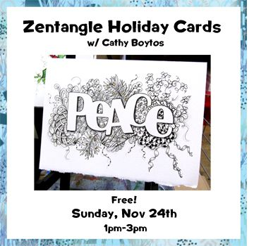 Nov 24 - Zentangle Holiday Cards