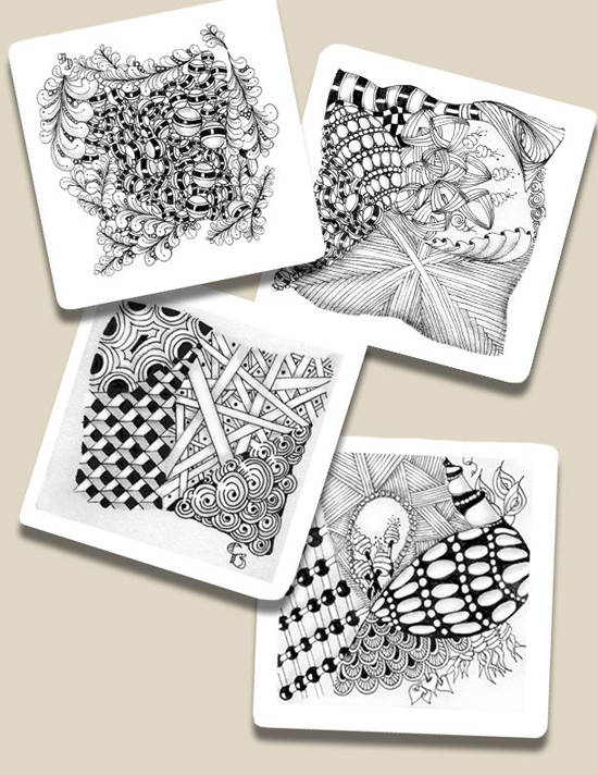 Saturday, July 28th - Zentangle: Renaissance Tiles with Cathy Boytos