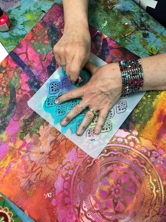 Saturday, Oct. 13th - Intuitive Mixed Media with Susan Miller