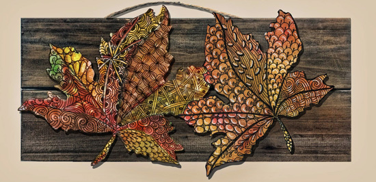 Sep 22 - Zentangle: Autumn Leaves with Cathy Boytos