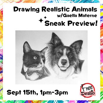 Sept 15 - Drawing Realistic Animals Preview with Gaella Materne