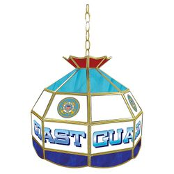 "16"" Coast Guard Stained Glass Tiffany Lamp"
