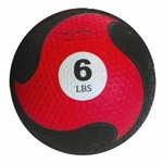 "FitBall Weighted Medicine Ball (Red 6lbs 9"")"