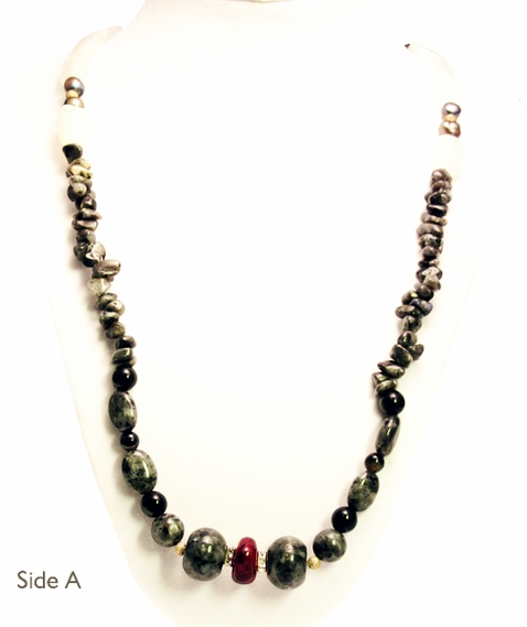 Semi-Precious Gemstone Reversible Necklace
