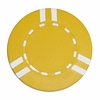 Sopranos Striped Clay Poker Chips - Yellow