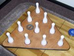 Sun-Glo Shuffleboard Bowling Pins and Pinsetter