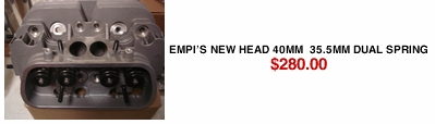 EMPI'S NEW Head 40mm  35.5mm Dual Spring