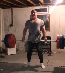 Burning off anxiety with intense deadlift session