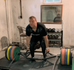 Trap Bar Deadlift with bands on Rogue Deadlift Platform