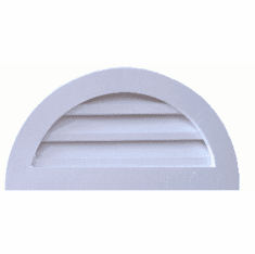 """18"""" Half Round Louvered Gable Vent"""