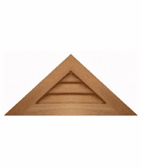 """24"""" base 11/12 pitch<br>Triangle Gable Vent"""