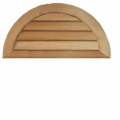 """30"""" Half Round Louvered Gable Vent"""