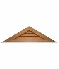 """36"""" base 7/12 pitch<br>Triangle Gable Vent"""