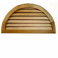"""48"""" Half Round Louvered Gable Vent"""