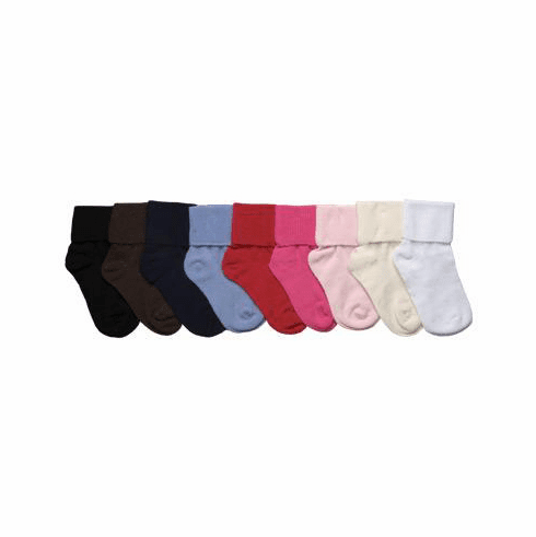 1 Pair Seamless Toe w/ Rib Finish Crew Socks
