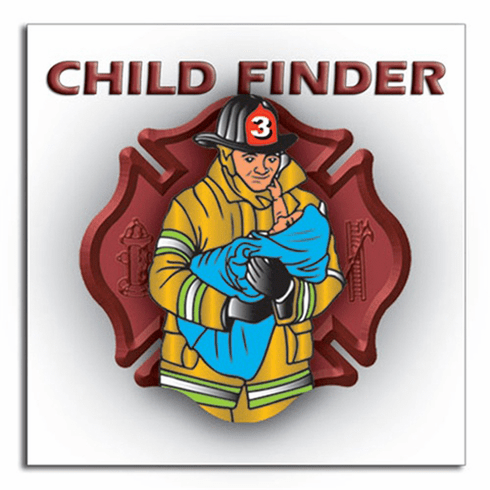 2 Pack Full Color Child Finder Vinyl Decals for Windows