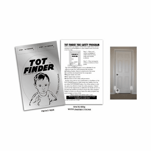 2 Pack Tot Finder Decals for Inside Door
