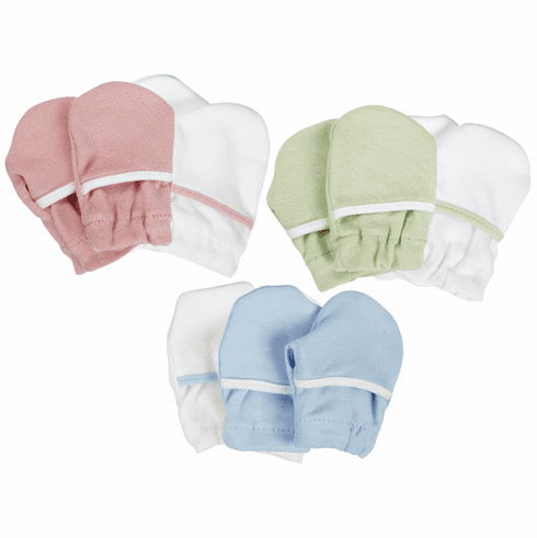2 Pair Safety 1st Soft Cotton Baby No Scratch Mittens