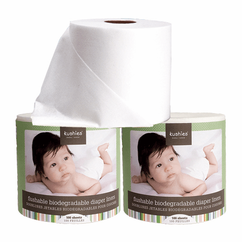 3 Pack Kushies Flushable Biodegradable Diaper Liners