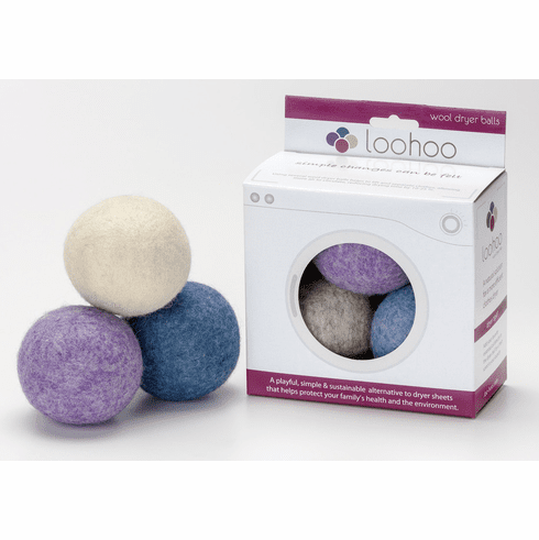 3 Pack of LooHoo Wool Dryer Balls