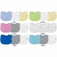 3 Pack Terry Cotton Drip Drop Dribble Baby Bibs