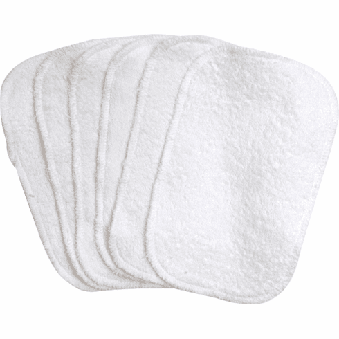 6 Pack Under the Nile 100% Organic Egyptian Cotton Terry Baby Wipes