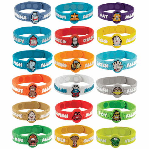 Allergy Wristbands Alert Others of Kids Allergies