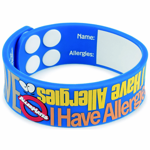 "Allermates ""I Have Allergies"" Writable Wristband Bracelet"