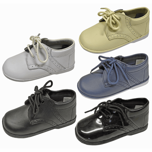 Angel Baby & Toddler Boy's Mid-Top Lace Up Leather Dress Shoes