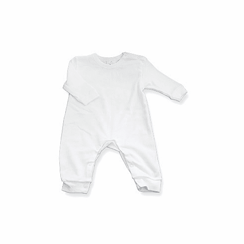 Baby Jay 100% Cotton Long Sleeve Long Legs Suit with Snap Crotch
