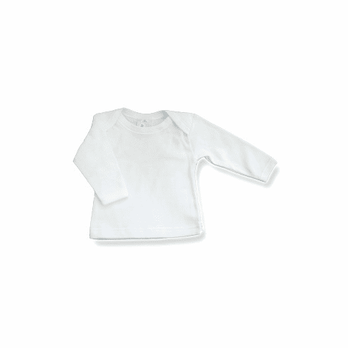Baby Jay 100% Cotton Long Sleeve Shirt with Lap Style Envelope Neck