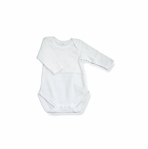 Baby Jay 100% Cotton Long Sleeve Undershirt with Snap Crotch