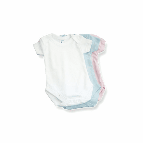 Baby Jay 100% Cotton Short Sleeve Undershirt with Snap Crotch
