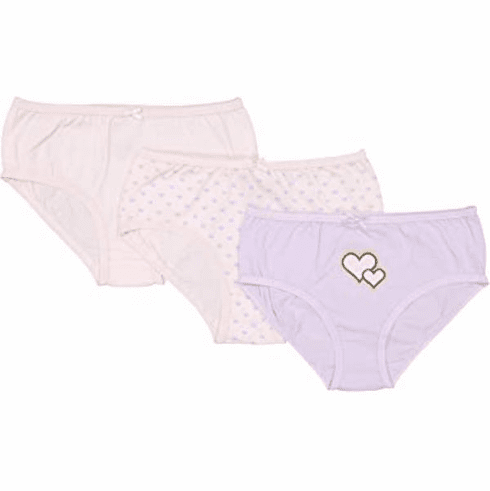Baby Jay Pink Tagless Cotton Girl Briefs 3 Pack Ultra Soft Girl Underwear