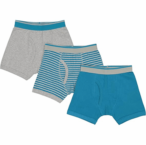 Baby Jay Teal Tagless Cotton Boys Briefs 3 Pack Ultra Soft Boys Underwear