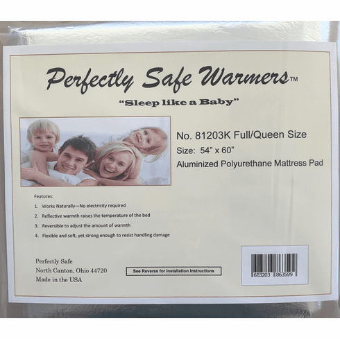 "Body Heat Activated Bed Warmer Mattress Pad - Full/Queen (54"" x 60"")"