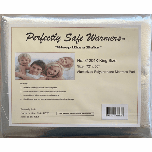 "Body Heat Activated Bed Warmer Mattress Pad - King Size (72"" x 60"")"