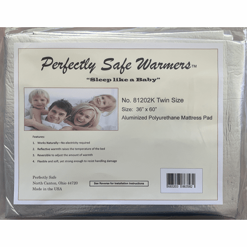 "Body Heat Activated Bed Warmer Mattress Pad - Twin (36"" x 60"")"