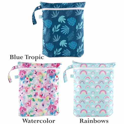Bumkins Reusable Waterproof Wet/Dry Bag for Diapers, Gym Clothes or Swim Suits
