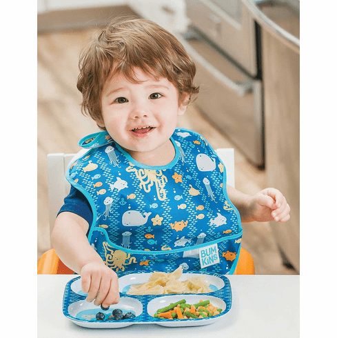 Bumkins Waterproof Easy Wipe Superbib Bib with Pocket
