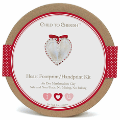 Child to Cherish Air Dry Marshmallow Clay Heart Footprint Handprint Kit