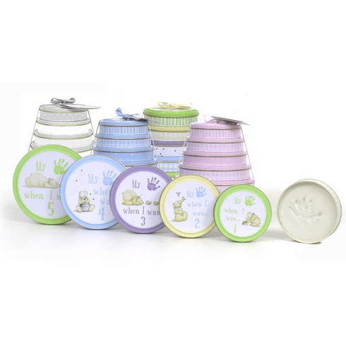 Child to Cherish Tower of Time Handprint Tins Kit for Ages 1, 2, 3, 4 & 5