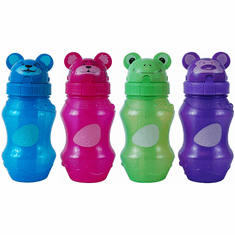 Cool Gear Zooey Fliptop BPA Free 12.5 oz Water Bottle with Pop-Up Straw