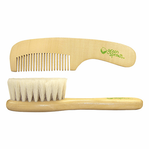 Green Sprouts Natural Wooden Baby Brush & Comb Set