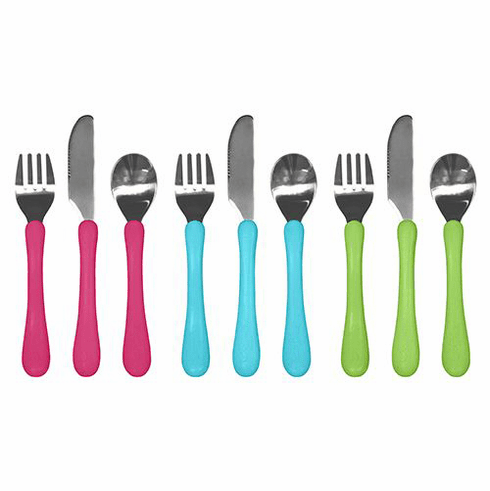 Green Sprouts Toddler Spoon, Fork & Knife Learning Cutlery Set
