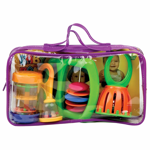 Hohner Baby Band Bag Toddler Music Set w/Maraca, Shaker Beads, Bell & Rattle