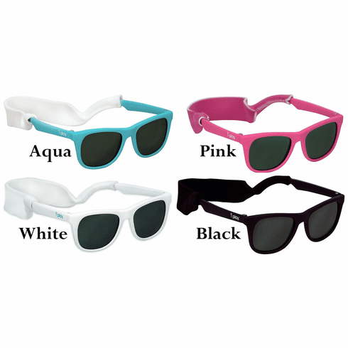 i Play Baby Infant Toddler Flexible Sunglasses w/Removable Stay-Put Strap