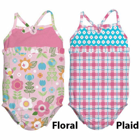 iPlay Mix 'n Match Bow Tanksuit With Ultimate Swim Diaper Built-In