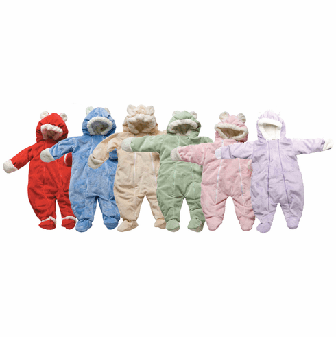 iPlay Soft & Snuggly Velour Fleece Cuddlesuit