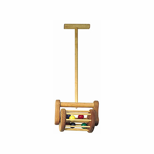 Kid Wooden Hardwood Lawn Mower Push Toy - Made in the USA